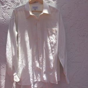 CHRISTIAN DIOR Size 17 1/2 34/35 Button Down long